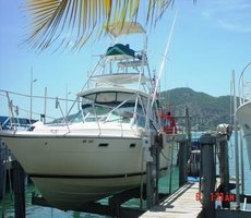 Boat ob Lift St Maarten Fishing